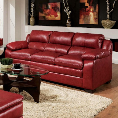 Acme Furniture Jeremy Stationary Casual Sofa