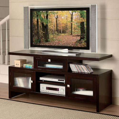 Acme Furniture Jupiter Folding TV Stand with 3 Doors