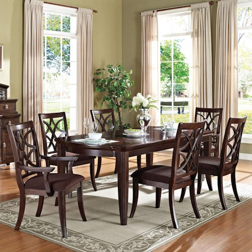Acme Furniture Keenan Transitional 7-Piece Dining Set
