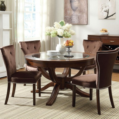 Acme Furniture Kingston 5-Piece Formal Dining Table and Chair Set
