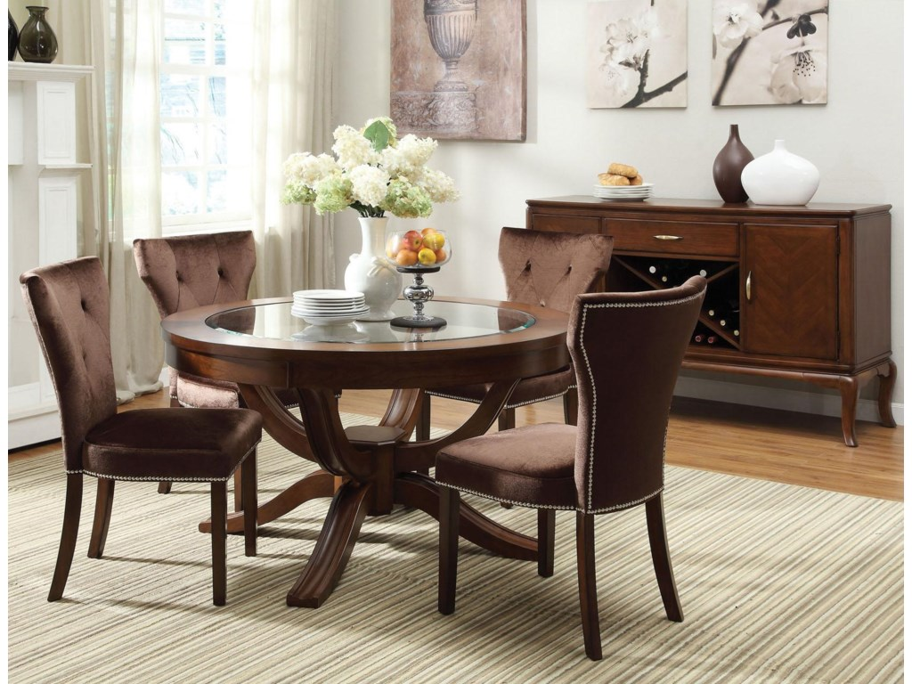 Shown in 5-Piece Dining Set with Server