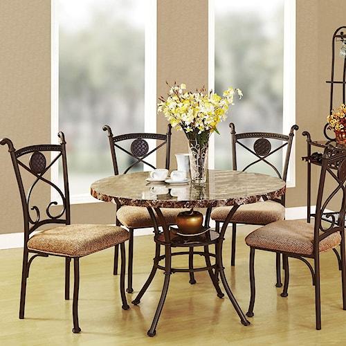 Acme Furniture Kleef Casual 5-Piece Dining Set