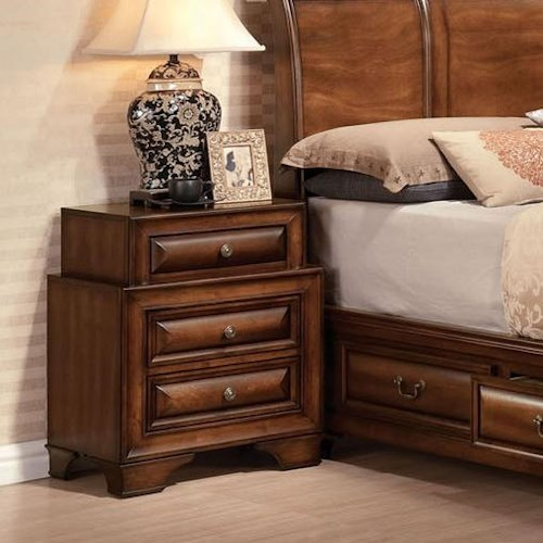 Acme Furniture Konane Traditional Three-Drawer Nightstand