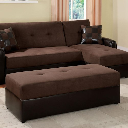 Acme Furniture Lakeland Contemporary Ottoman