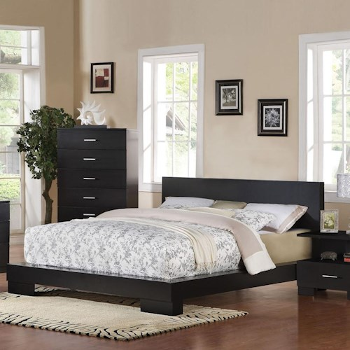 Acme Furniture London Contemporary Platform Queen Bed