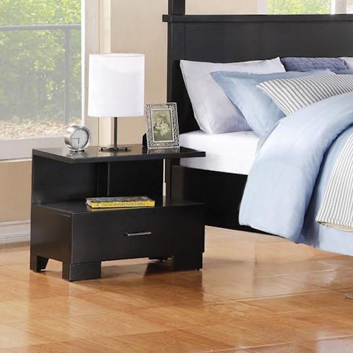 Acme Furniture London Contemporary One-Drawer Nightstand