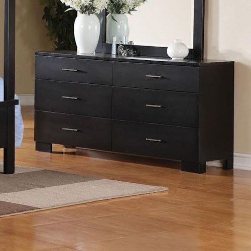 Acme Furniture London Contemporary Dresser W/Brushed Nickel Hardware