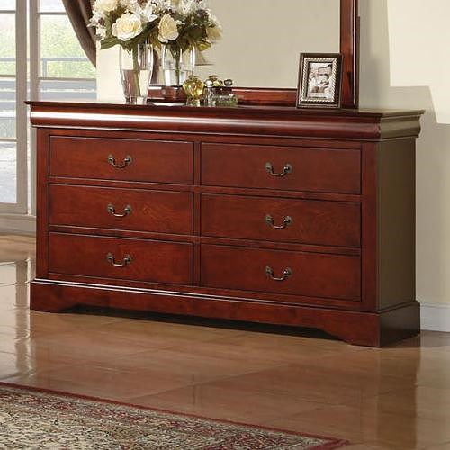 Acme Furniture Louis Philippe III Transitional 6 Drawer Dresser