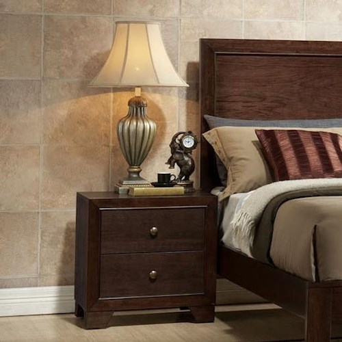 Acme Furniture Madison Two-Drawer Nightstand