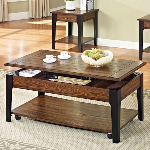 Acme Furniture Magus Coffee Table with Lift Top and Shelf