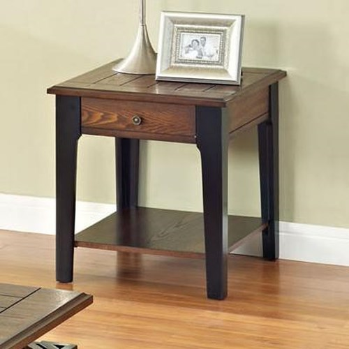 Acme Furniture Magus End Table with 1 Drawer and Shelf