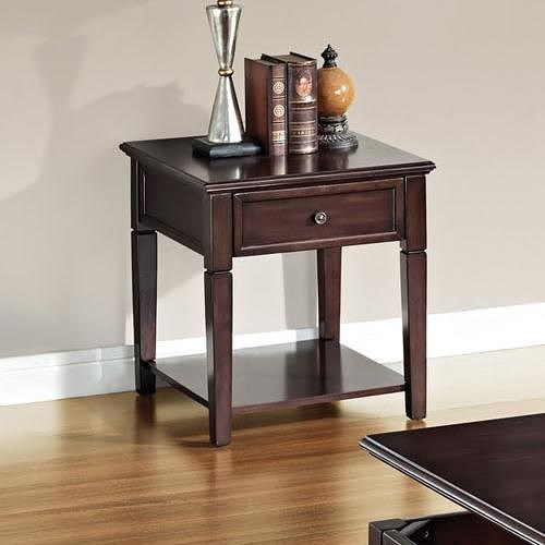 Acme Furniture Malachi Transitional End Table with Drawer and Shelf