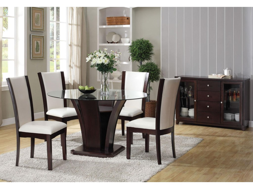Shown with Dining Side Chairs and Server