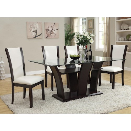 Acme Furniture Malik 5-Piece Dining Rectangular Table and Chair Set