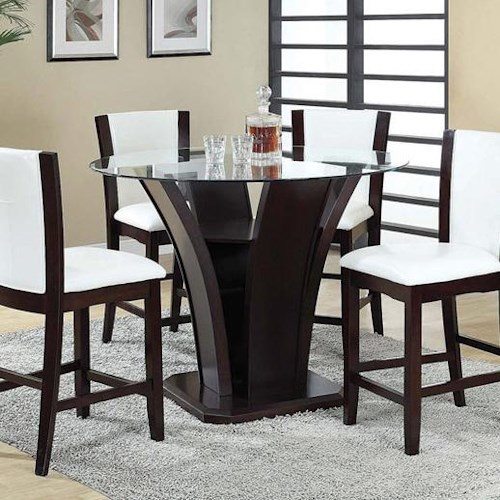 Acme Furniture Malik Contemporary Counter Height Dining Table