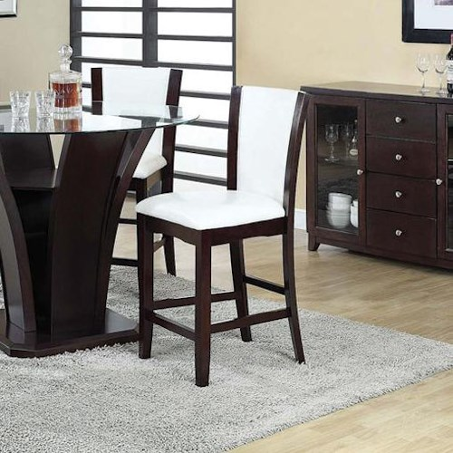 Acme Furniture Malik Contemporary Counter Height Dining Chair