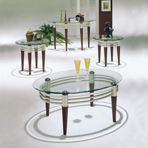 Acme Furniture Marseille Contemporary 3-Piece Occasional Coffee and End Table Set