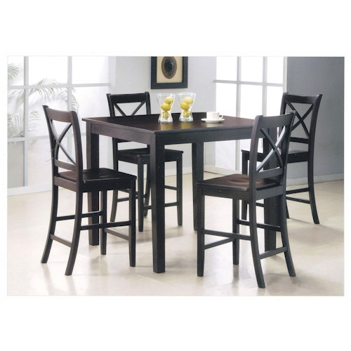 Acme Furniture Martha 5-Piece Counter Height Dining Set