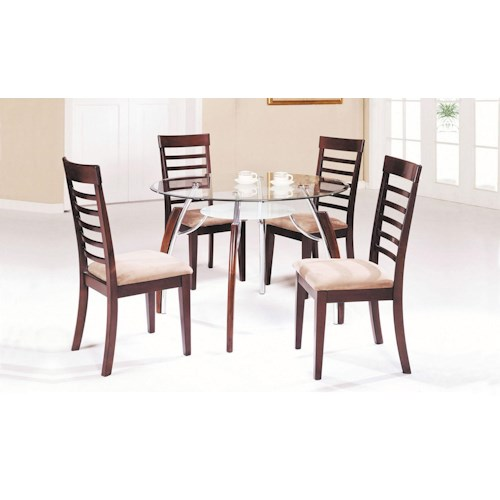 Acme Furniture Martini Contemporary 5-Piece Table and Chair Set