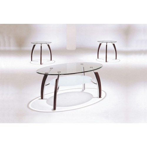 Acme Furniture Martini 3-Piece Coffee and End Table Set