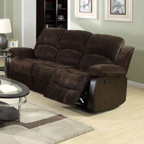 Acme Furniture Masaccio Casual Reclining Sofa