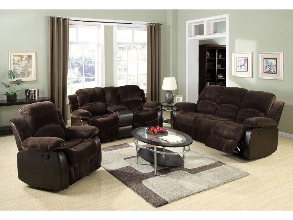 Shown with Recliner and Reclining Loveseat W/Console