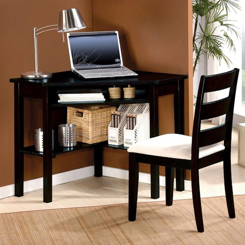 Acme Furniture Naco 2-Piece Office Set: Corner Desk and Side Chair