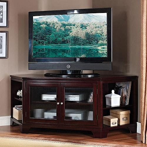 Acme Furniture Namir Espresso Corner TV Stand with Storage
