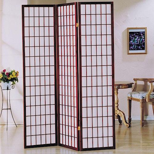 Acme Furniture Naomi  3-Panel Wood Floor Screen