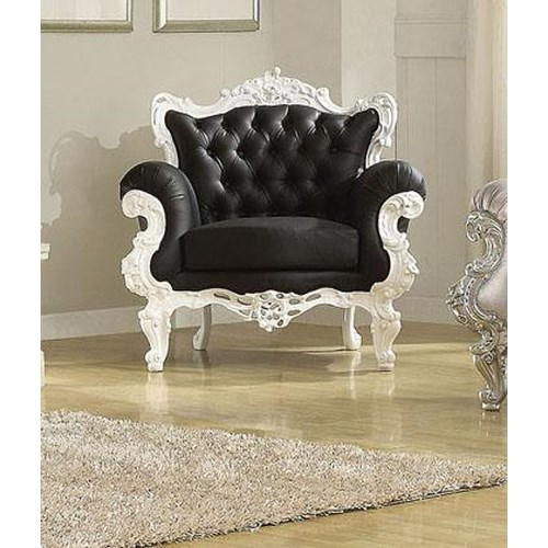 Acme Furniture Nels Neo Classical Upholstered Accent Chair