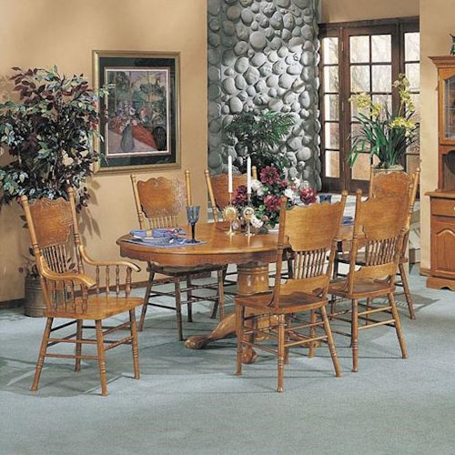 Acme Furniture Nostalgia Traditional Pedestal Dining Table