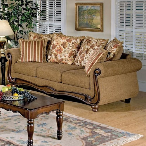 Acme Furniture Olysseus Stationary Sofa with Loose Pillow Back