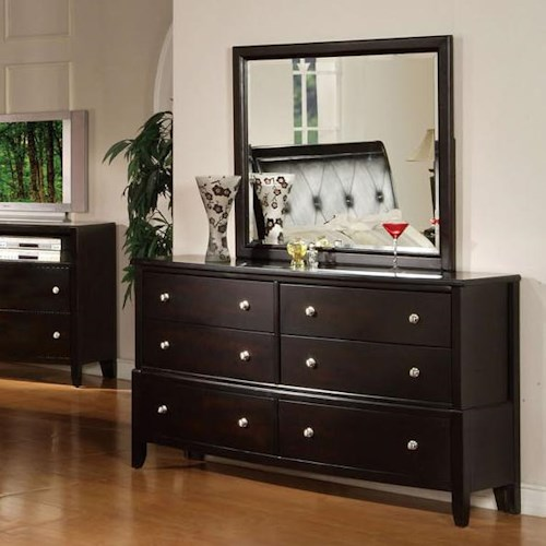Acme Furniture Oxford Dresser and Mirror Combo