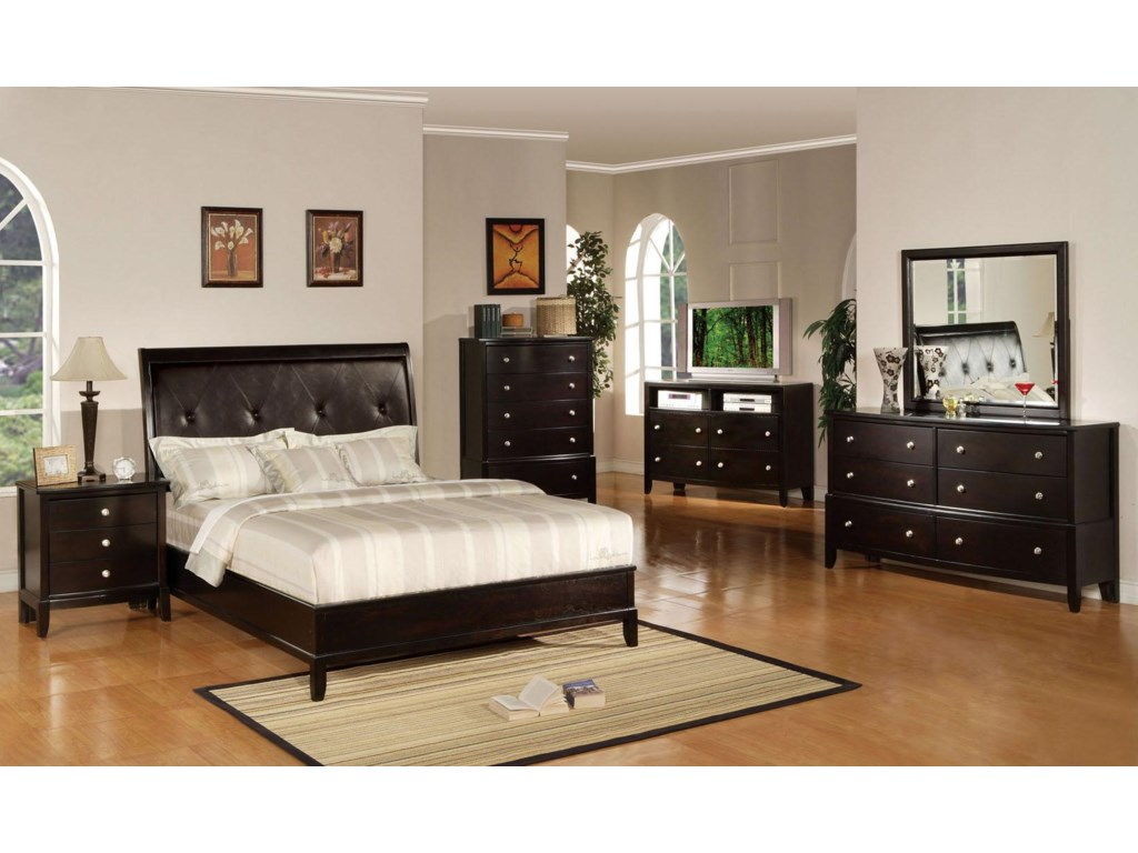 Shown with Nightstand, Bed, Chest, TV Console, and Mirror