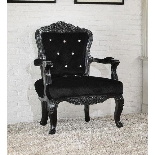 Acme Furniture Pascal  Accent Chair with Crystal Button Back