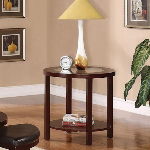 Acme Furniture Patia End Table W/ Glass Top