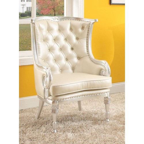 Acme Furniture Pawnee  Neo Classical Upholstered Accent Chair