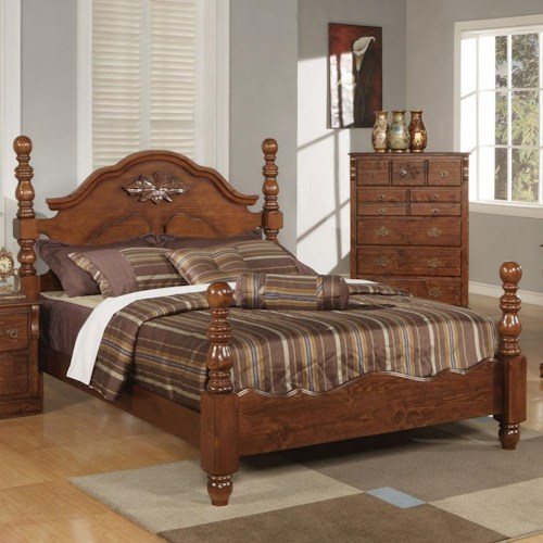 Acme Furniture Ponderosa Queen Poster Bed