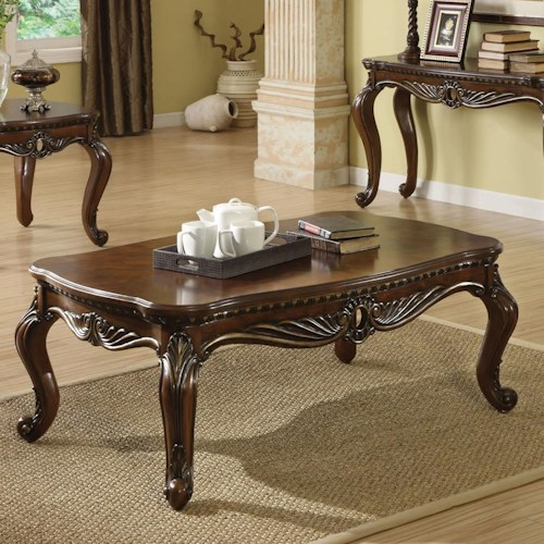 Acme Furniture Remington Traditional Brown Cherry Coffee Table