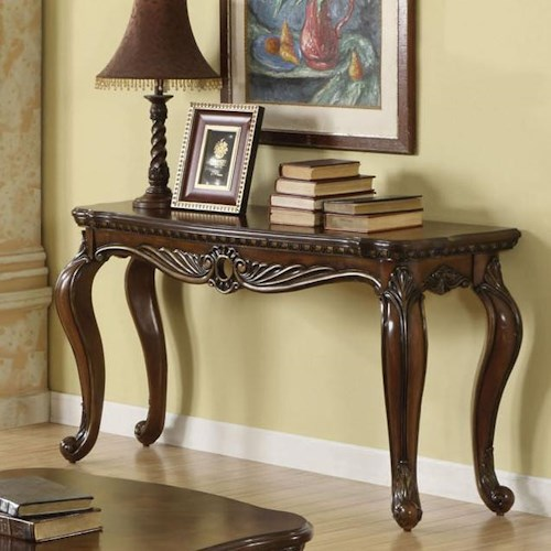 Acme Furniture Remington Traditional Brown Cherry Sofa Table