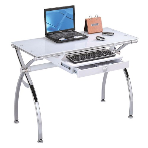 Acme Furniture Retro Contemporary Metal and Glass Computer Desk