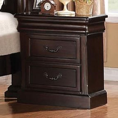 Acme Furniture Roman Empire Nightstand with 2 Drawers