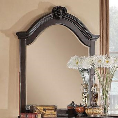 Acme Furniture Roman Empire Mirror with Decorative Carving