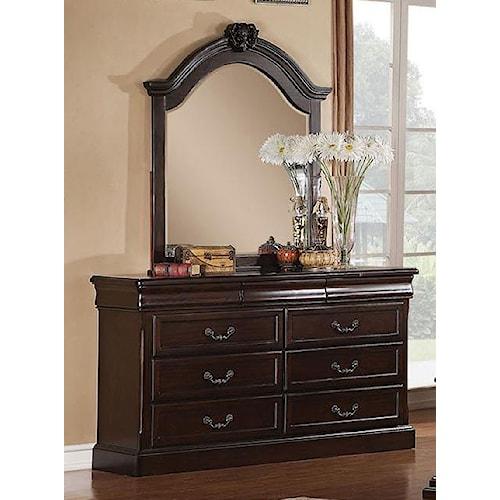 Acme Furniture Roman Empire Dresser and Mirror Set