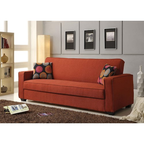 Acme Furniture Shani Linen Adjustable Sofa W/Storage and Pillows
