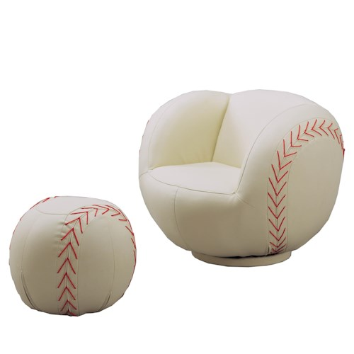 Acme Furniture Sporty Youth Sport Chairs and Ottomans
