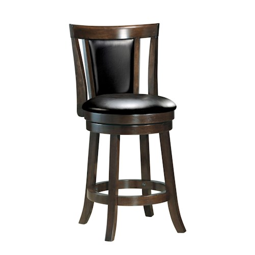 Acme Furniture Tabib Contemporary Swivel Counter Stool with Pierced and Padded Back