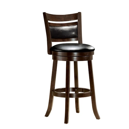 Acme Furniture Tabib Contemporary Swivel Bar Stool with Pierced Back