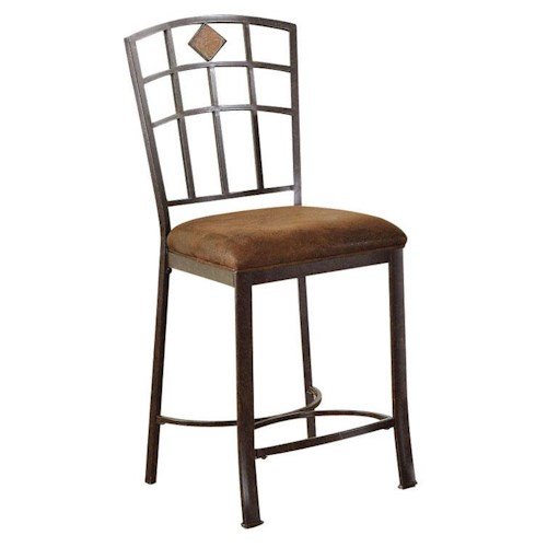 Acme Furniture Tavio Traditional Counter Height Chair with Grid Lattice Back