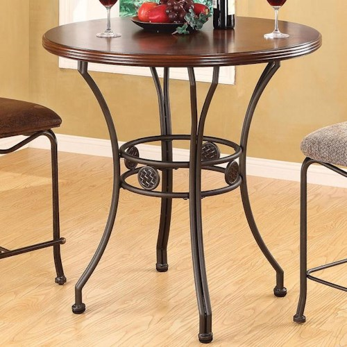 Acme Furniture Tavio Traditional Bar Table with Splayed Medallion Base